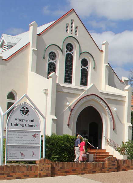Sherwood Uniting Church Entrance