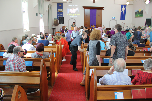 "Sherwood Uniting Church Service ""Pass the Peace"""